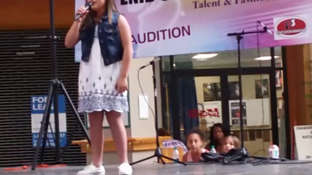 12 year old Oklahoma RAW talent singing Rolling in the Deep